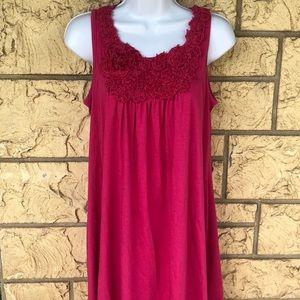 Pink Rose Dress Swim coverup Maxi Size Large